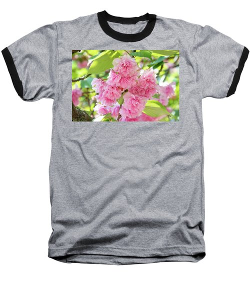 Cherry Blossom Cluster Baseball T-Shirt