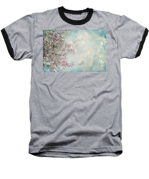 Baseball T-Shirt featuring the photograph Cherry Blossom Dreams by Linda Lees