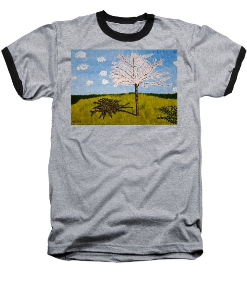 Cherry Blossom Tree Baseball T-Shirt