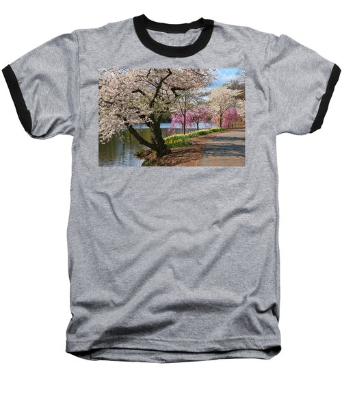 Cherry Blossom Trees Of Branch Brook Park 17 Baseball T-Shirt