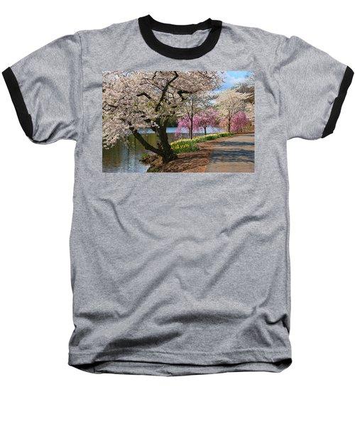 Cherry Blossom Trees Of Branch Brook Park 17 Baseball T-Shirt