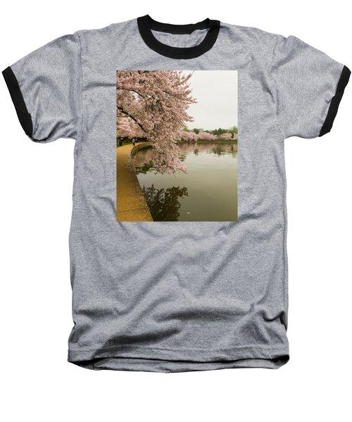 Cherry Blossoms Along The Tidal Basin 8x10 Baseball T-Shirt