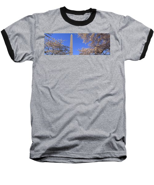 Cherry Blossoms And Washington Baseball T-Shirt by Panoramic Images
