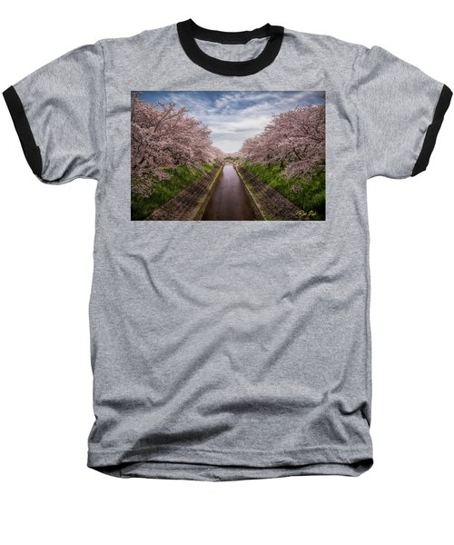 Baseball T-Shirt featuring the photograph Cherry Blossoms In Nara by Rikk Flohr