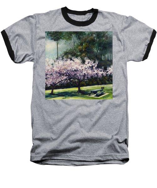 Cherry Blossoms Baseball T-Shirt by Rick Nederlof