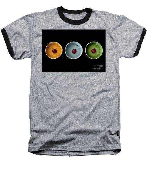 Cherry Color Block Experiment Baseball T-Shirt