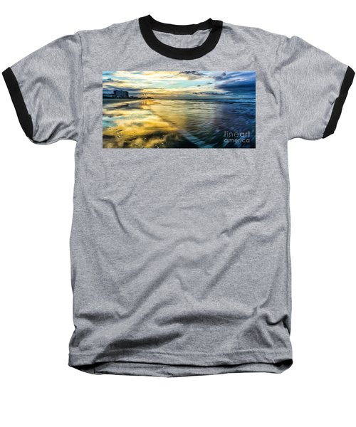 Cherry Grove Golden Shimmer Baseball T-Shirt by David Smith