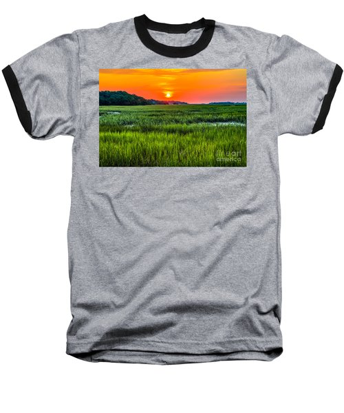 Cherry Grove Marsh Sunrise Baseball T-Shirt