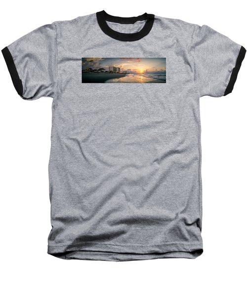 Cherry Grove Panoramic Sunrise Baseball T-Shirt