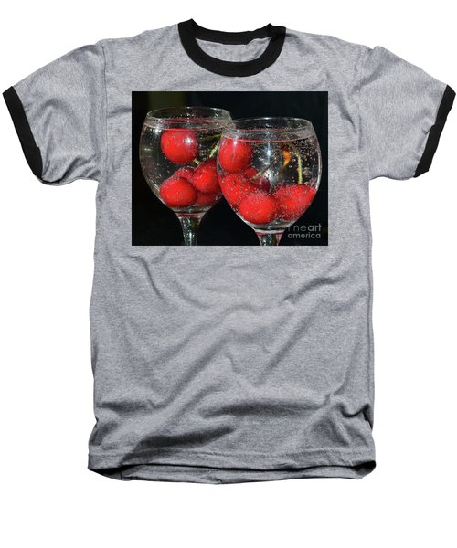 Baseball T-Shirt featuring the photograph Cherry In Glass by Elvira Ladocki