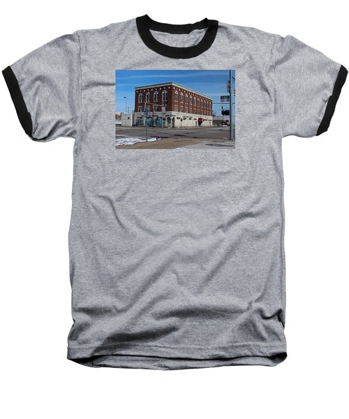 Baseball T-Shirt featuring the photograph Cherry Street Mission In Winter by Michiale Schneider