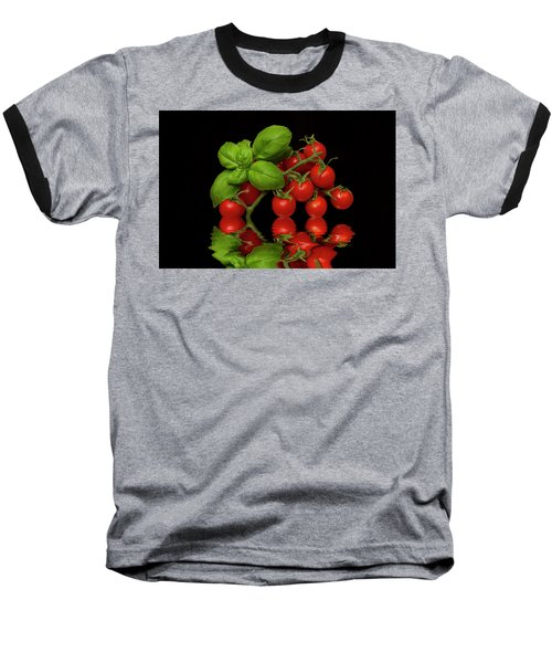Baseball T-Shirt featuring the photograph Cherry Tomatoes And Basil by David French