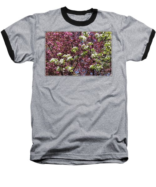 Cherry Tree And Pear Blossoms Baseball T-Shirt