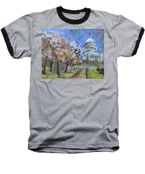 Cherry Tree Blossoms In Washington Dc Baseball T-Shirt
