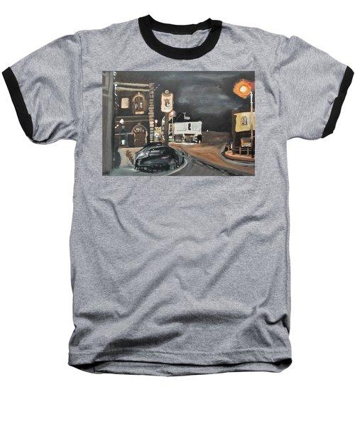 Chertsey At Night 1 Baseball T-Shirt by Carole Robins