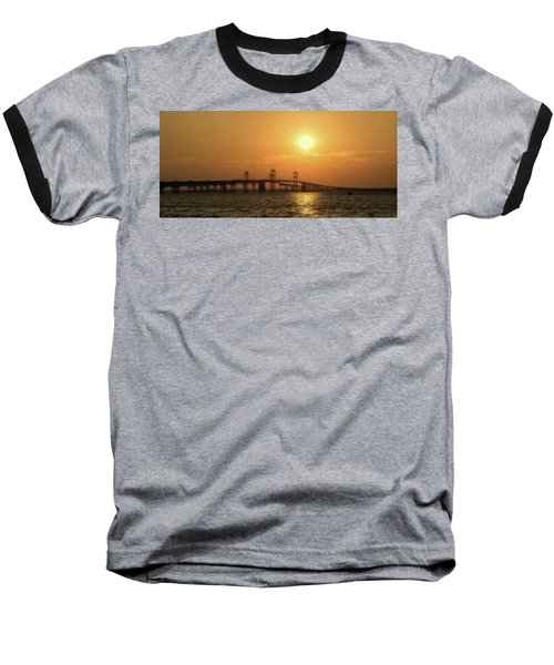 Chesapeake Bay Bridge Sunset I Baseball T-Shirt