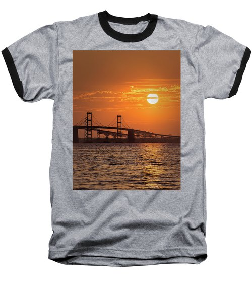 Chesapeake Bay Bridge Sunset II Baseball T-Shirt