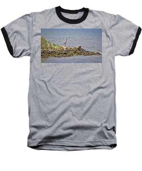Chesapeake Bay Great Blue Heron Baseball T-Shirt