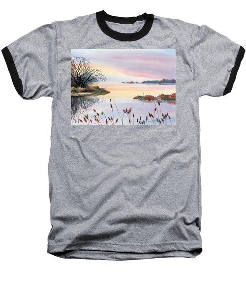 Baseball T-Shirt featuring the painting Chesapeake Bay Sunset by Yolanda Koh