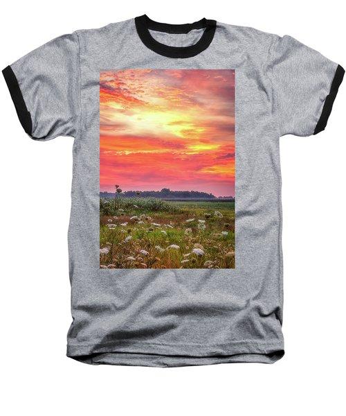 Chesapeake Sunrise I Baseball T-Shirt by David Cote