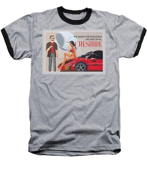 Cheshire Poster Baseball T-Shirt