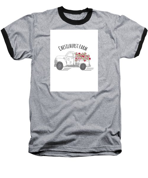 Baseball T-Shirt featuring the drawing Chesilhurst Farm by Kim Kent