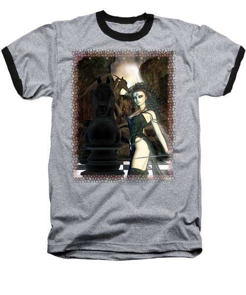 Chess 3d Fantasy Art Baseball T-Shirt by Sharon and Renee Lozen