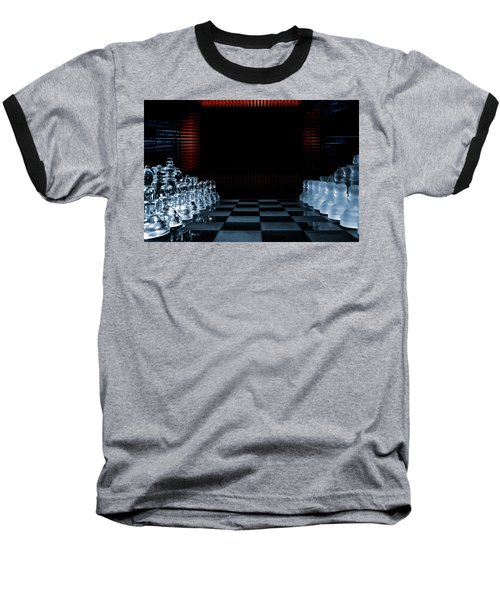 Chess Game Performed By Artificial Intelligence Baseball T-Shirt by Christian Lagereek