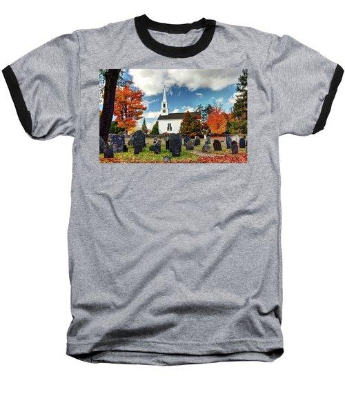 Chester Village Cemetery In Autumn Baseball T-Shirt