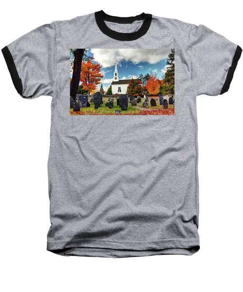 Chester Village Cemetery In Autumn Baseball T-Shirt