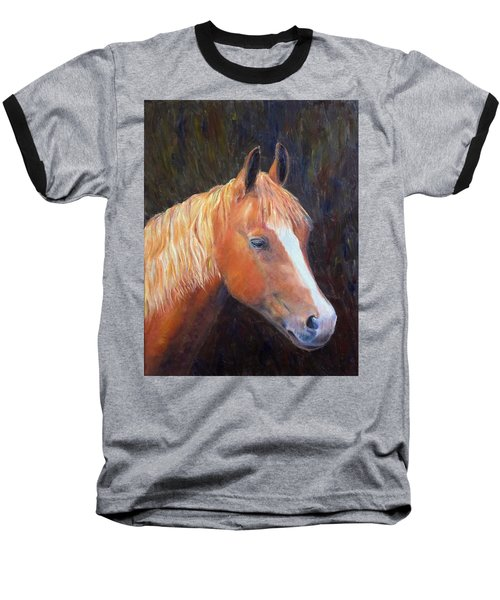 Baseball T-Shirt featuring the painting Chestnut by Elizabeth Lock