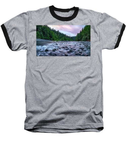 Baseball T-Shirt featuring the photograph Chetco River Sunset 2 by Leland D Howard
