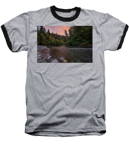 Baseball T-Shirt featuring the photograph Chetco River Sunset by Leland D Howard
