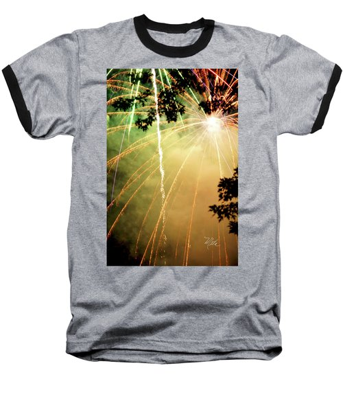 Chetola Yellow Fireworks Baseball T-Shirt