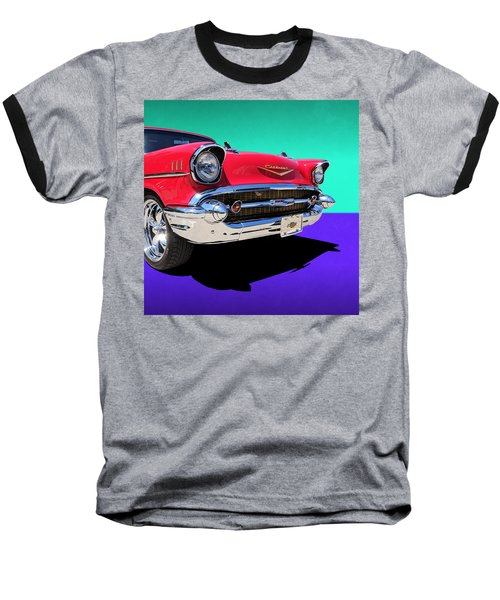 Chevrolet Bel Air Color Pop Baseball T-Shirt
