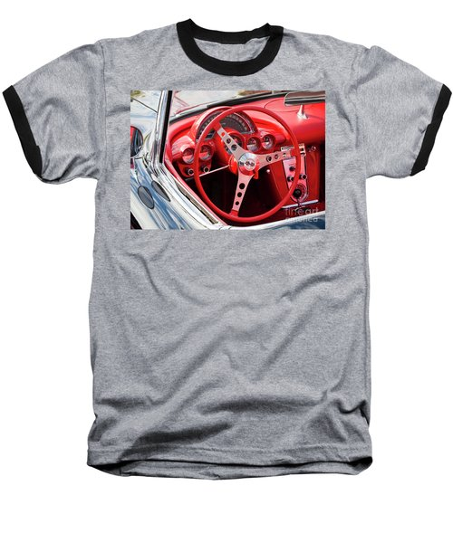 Baseball T-Shirt featuring the photograph Chevrolet Corvette Dash by Chris Dutton