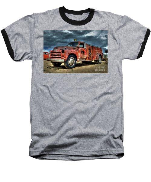 Chevrolet Fire Truck Baseball T-Shirt