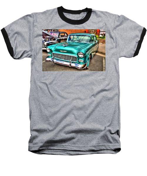 Chevy Cruising 55 Baseball T-Shirt by Dale R Carlson
