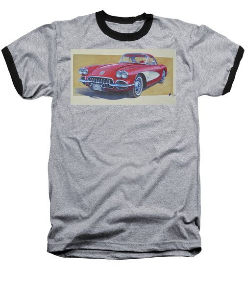 Baseball T-Shirt featuring the drawing Chevy by Mike Jeffries