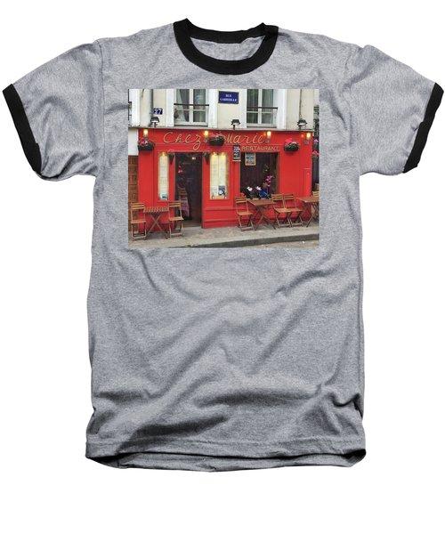 Chez Marie Restaurant, Montmartre, Paris Baseball T-Shirt