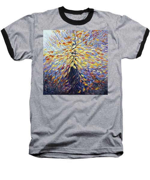 Baseball T-Shirt featuring the painting Chi Of The Mighty Tree by Joanne Smoley