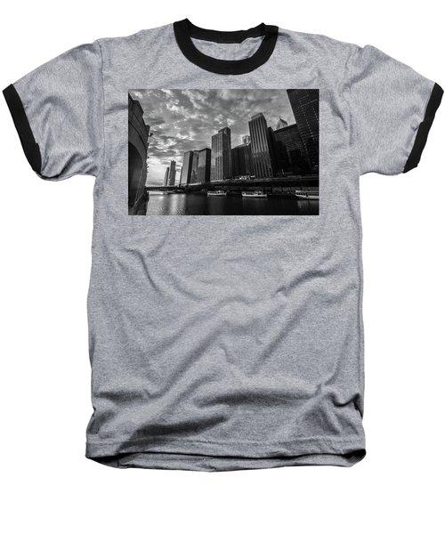 Chi Sunrise Black And White Baseball T-Shirt