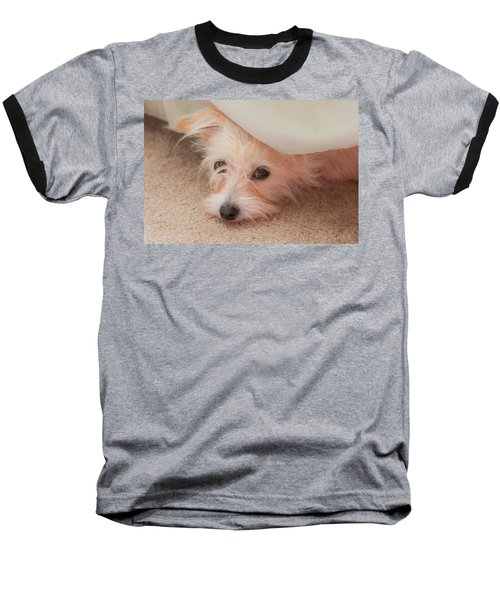 Chica In Hiding Baseball T-Shirt