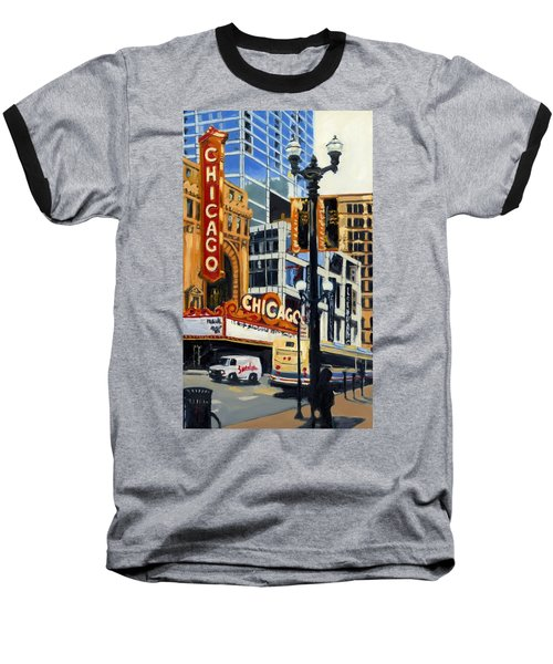 Chicago - The Chicago Theater Baseball T-Shirt