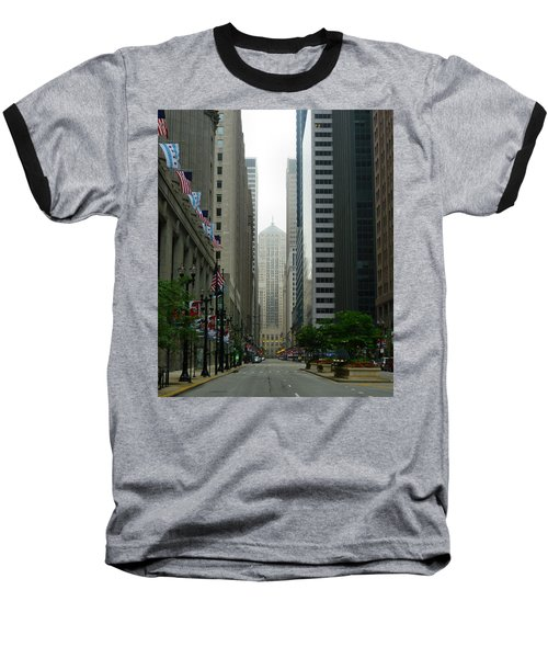 Chicago Architecture - 17 Baseball T-Shirt