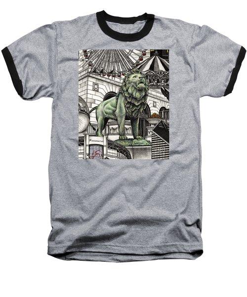 Chicago Art Institute Lion Baseball T-Shirt
