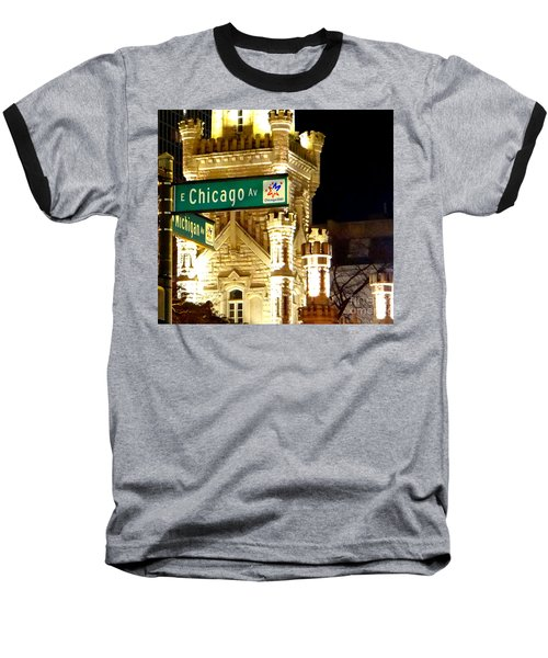 Baseball T-Shirt featuring the photograph Chicago Avenue  by Elizabeth Coats