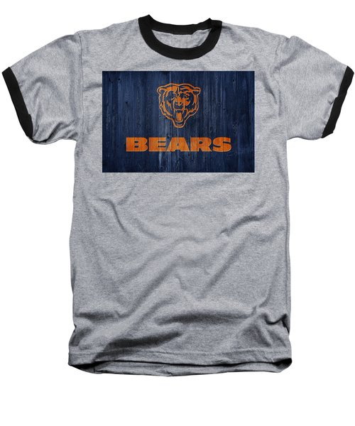Chicago Bears Barn Door Baseball T-Shirt by Dan Sproul