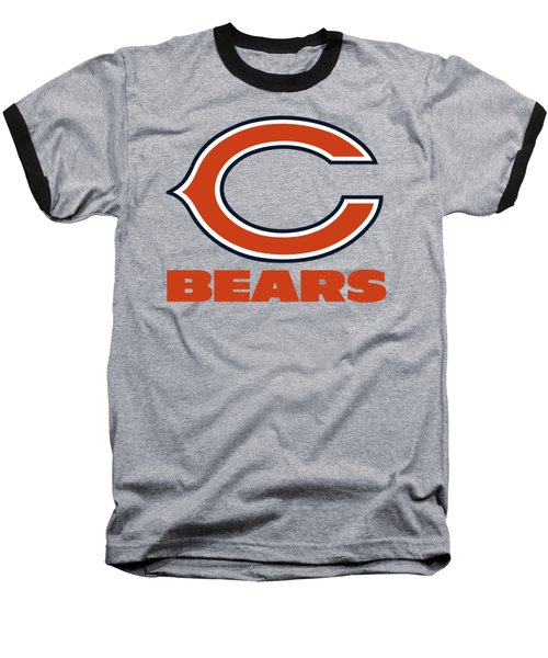 Chicago Bears On An Abraded Steel Texture Baseball T-Shirt