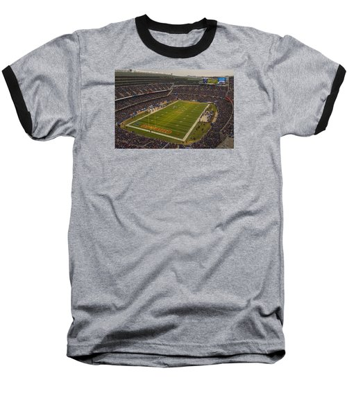 Chicago Bears Soldier Field 7795 Baseball T-Shirt